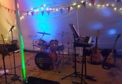 Quite Brazen exmouth wedding band at lower halsdon farm